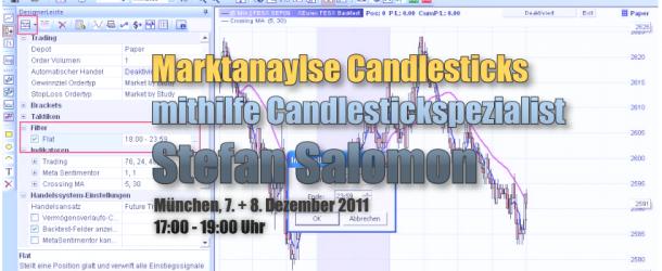 Einladung München 7.& 8. Dezember: Marktanaylse Candlesticks mithilfe der WHS FutureStation, Handelsplattform für CFD, FX und Futures. Gastredner Stefan Salomon
