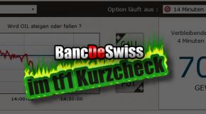Banc de Swiss: Binäre Optionen Handel. Erstkontakt und unsere Meinung