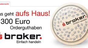 SBroker mit 300 EUR Orderguthaben Aktion ab 1.9.2012