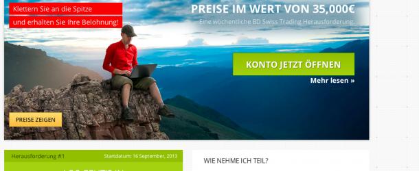 Banc de Swiss (BDSwiss) – Startet das Matterhorn Race Trading Spiel mit 35000€ Preisgeld