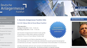5. German investors Messe Frankfurt 2014 – 21. & 22. February 2014