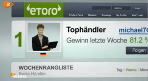 Etoro's Social Copy trading in the criticism of WISO (ZDF Post)